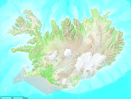 Figure 4. Areas to be avoided and with restriction (regulation) in sailing off the Icelandic coast