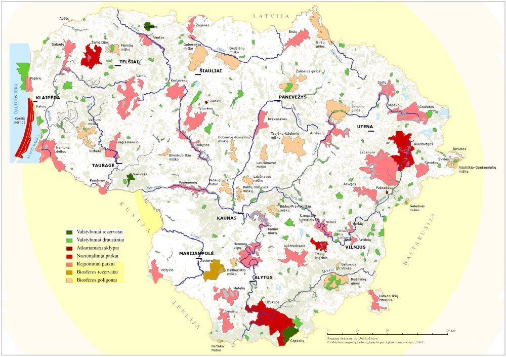 Fig. 3 Network of protected areas, 2007 Source: State Service for Protected Areas under the Ministry of Environment.
