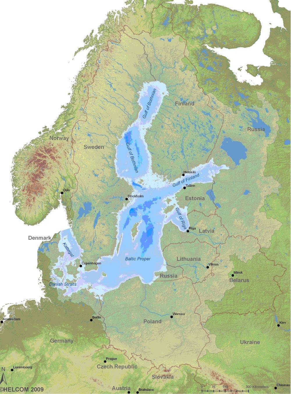 Figure 1: Map of the Baltic Sea region; the light green area ...