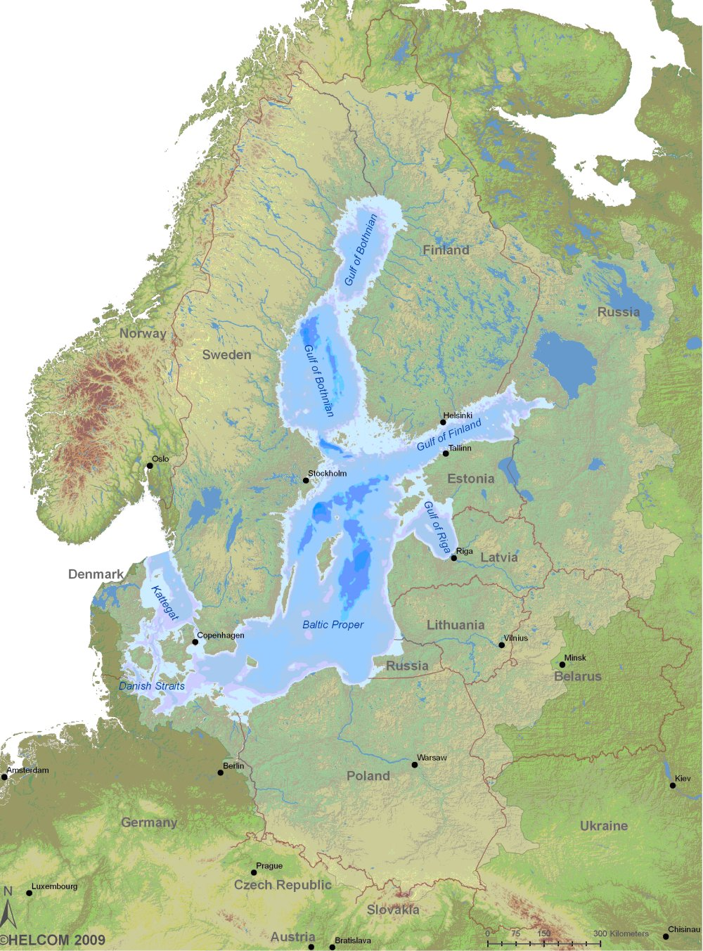 Figure 1: Map of the Baltic Sea region; the light green area ...