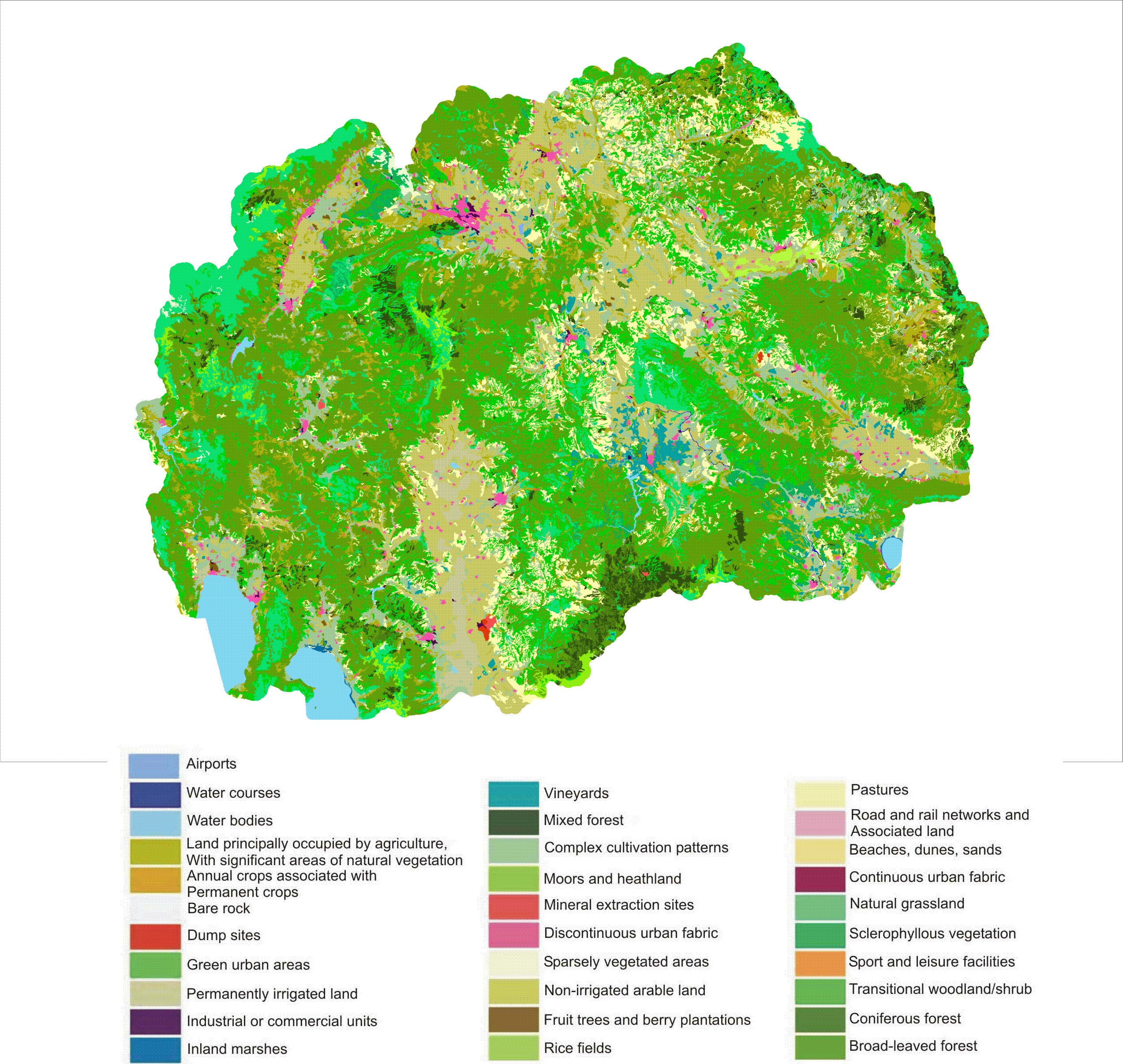 Map 4: Land cover in Republic of Macedonia