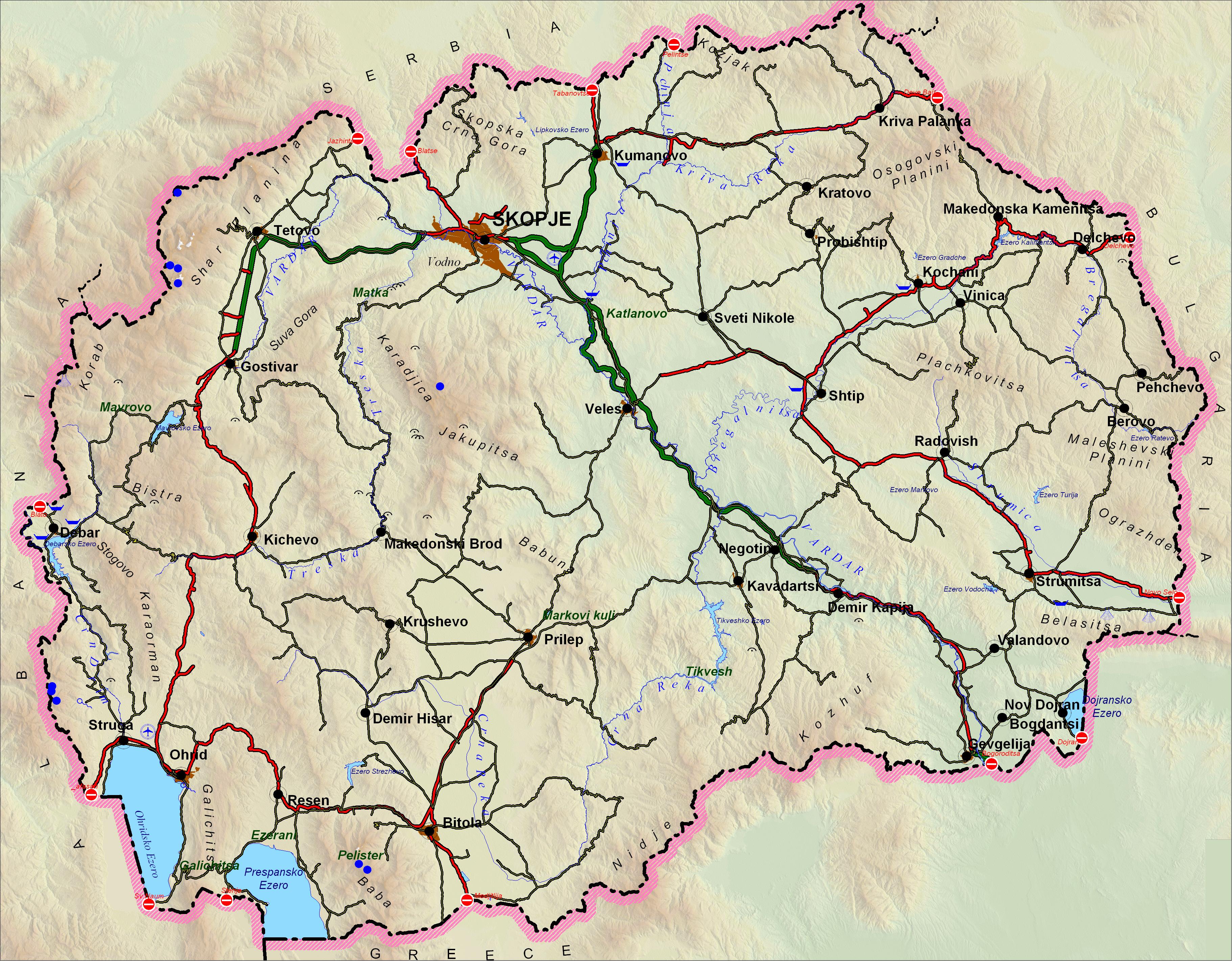 Map 1: Former Yugoslav Republic of Macedonia