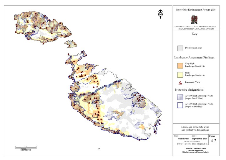 Map 4.2  Areas protected for landscape value