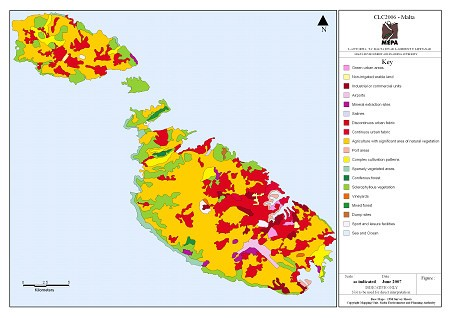 Land cover by type (CLC 2006)