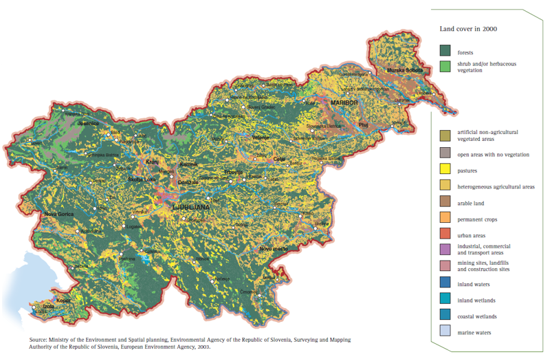 Figure 9: Land cover in Slovenia