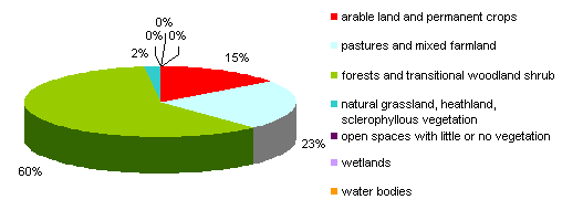 Figure 4: Categories of cover sealed urban and other artificial surfaces (1996\u20132006)