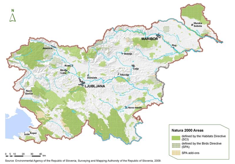Figure 7: Natura 2000 areas