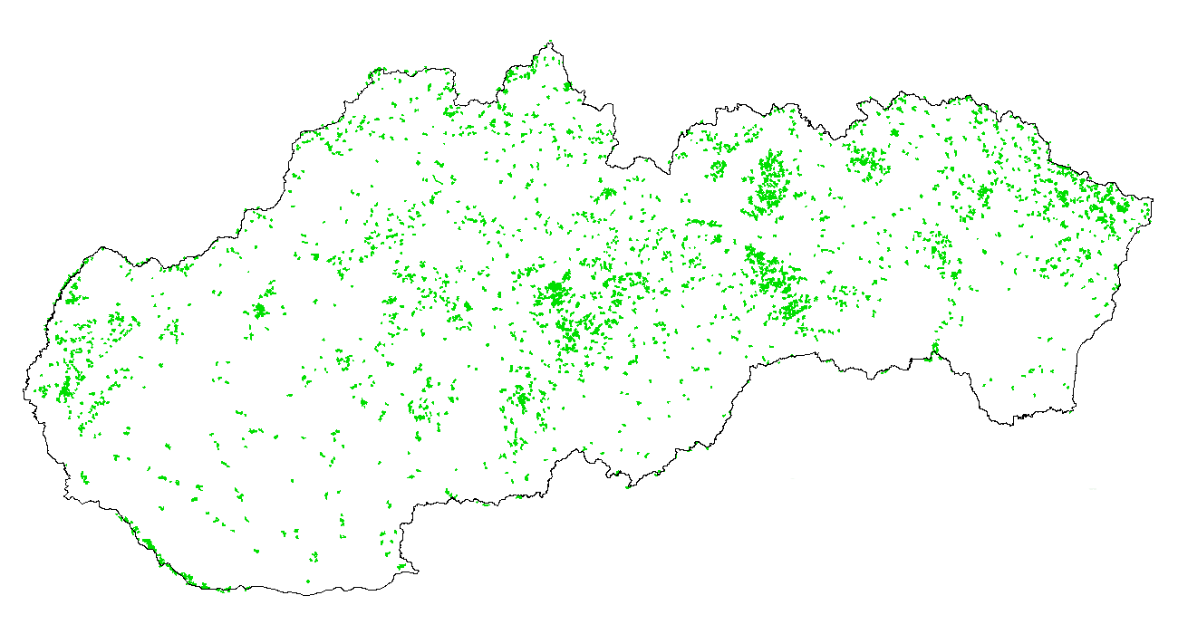 Figure 3a - Spatial distribution - FOREST land - 2000\u20131990