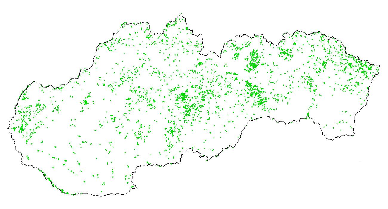 Figure 3a - Spatial distribution - FOREST land - 2000\u20131990