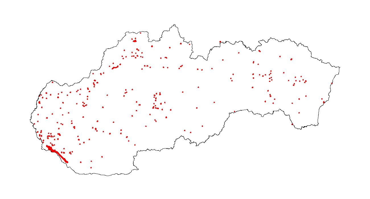 Figure 4a - Spatial distribution - URBAN land - 2000\u20131990