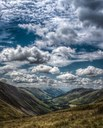 Little Fluffy Clouds over a Welsh Valley