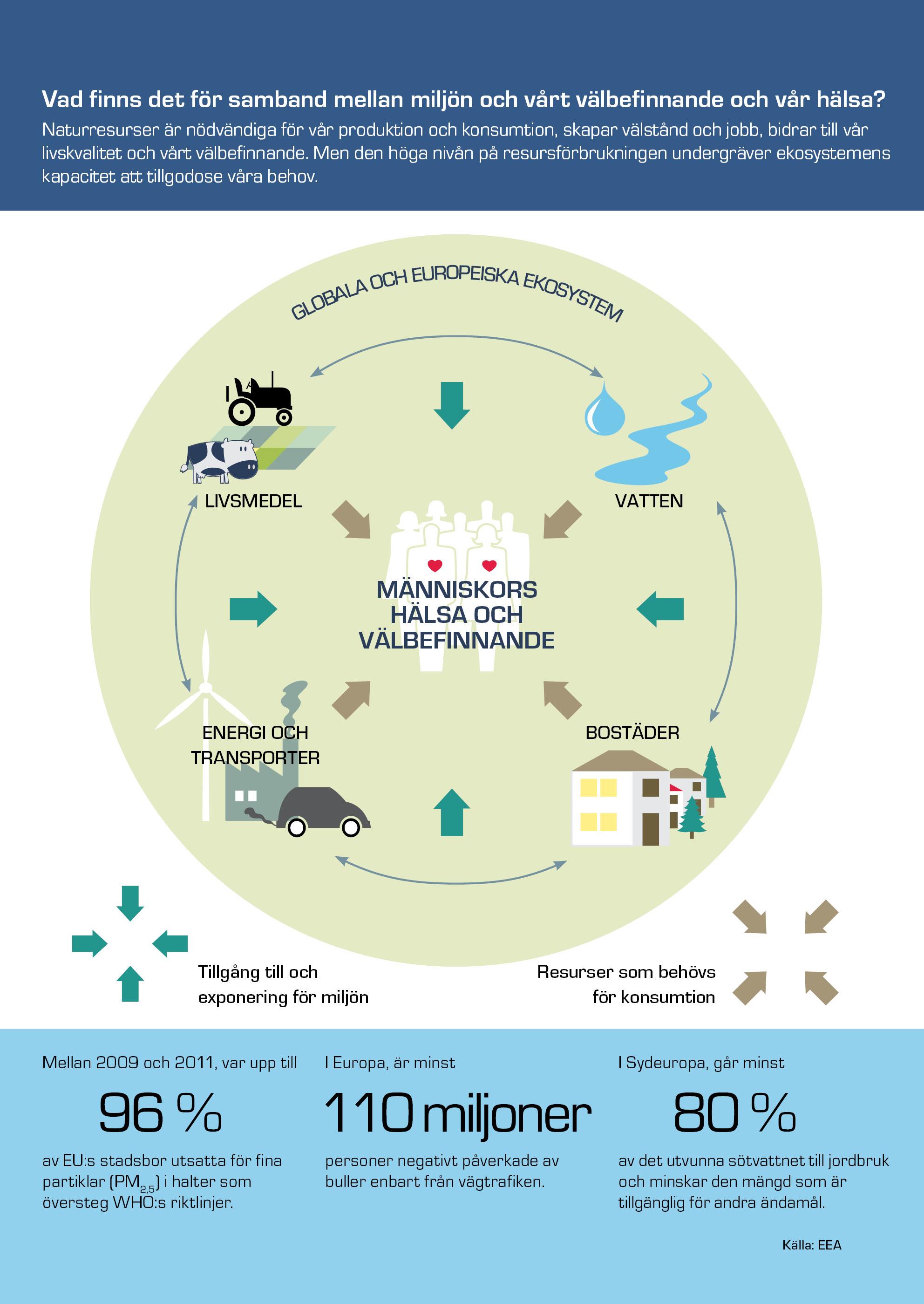 Vad finns det för samband mellan miljön och vårt välbefinnande och vår hälsa?