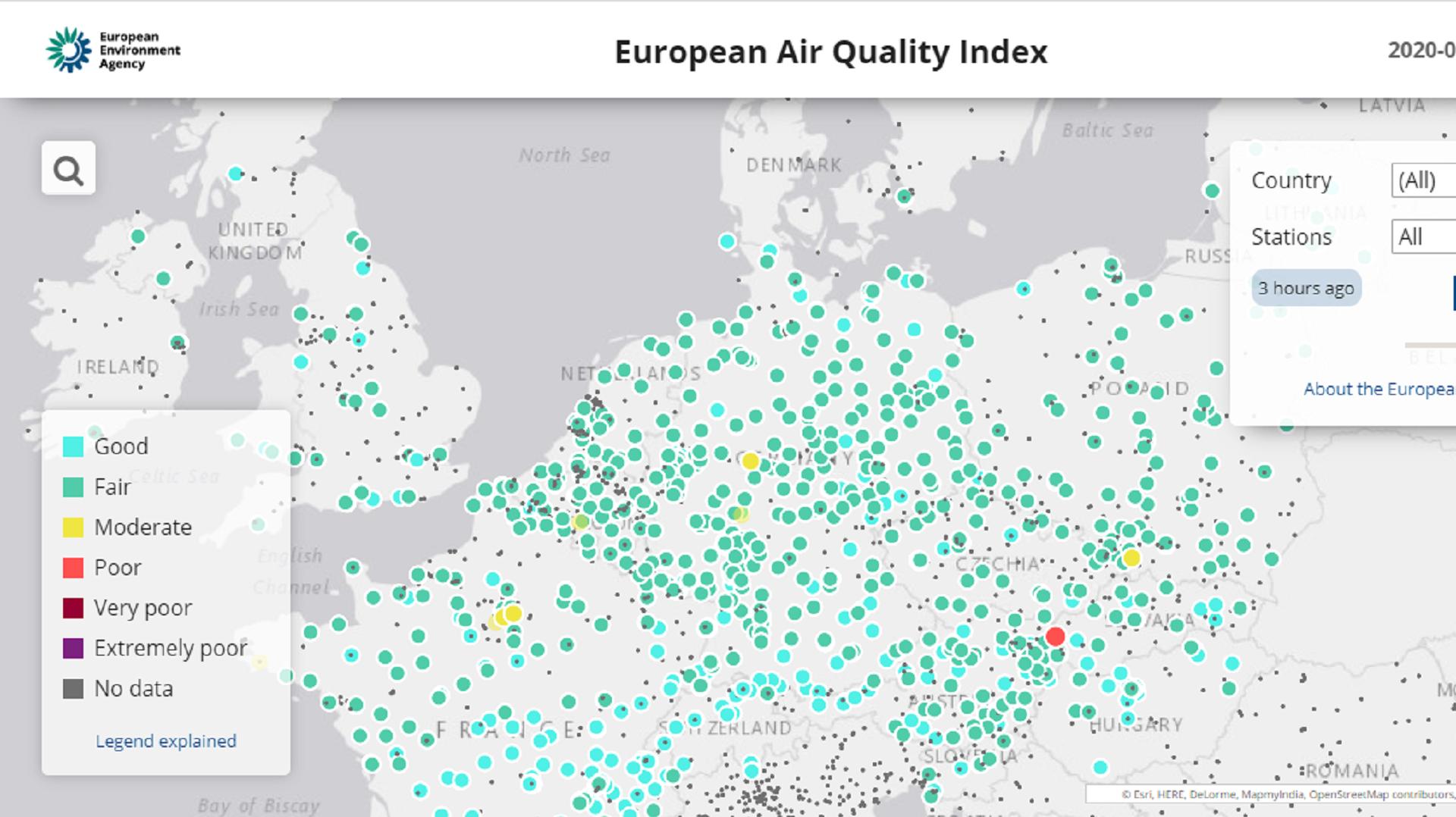 European Air Quality Index — European Environment Agency