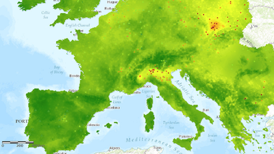 PM2.5 interpolated maps