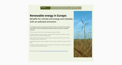 Dashboard - Impacts of renewable energy use on decarbonisation and air pollutant emissions