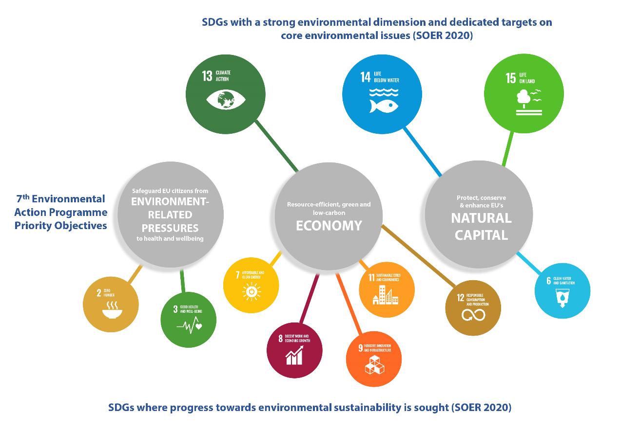 Figure 2: SDGs with an environmental dimension
