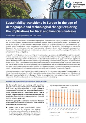 Demographic and technological transitions could affect European environmental policy plans